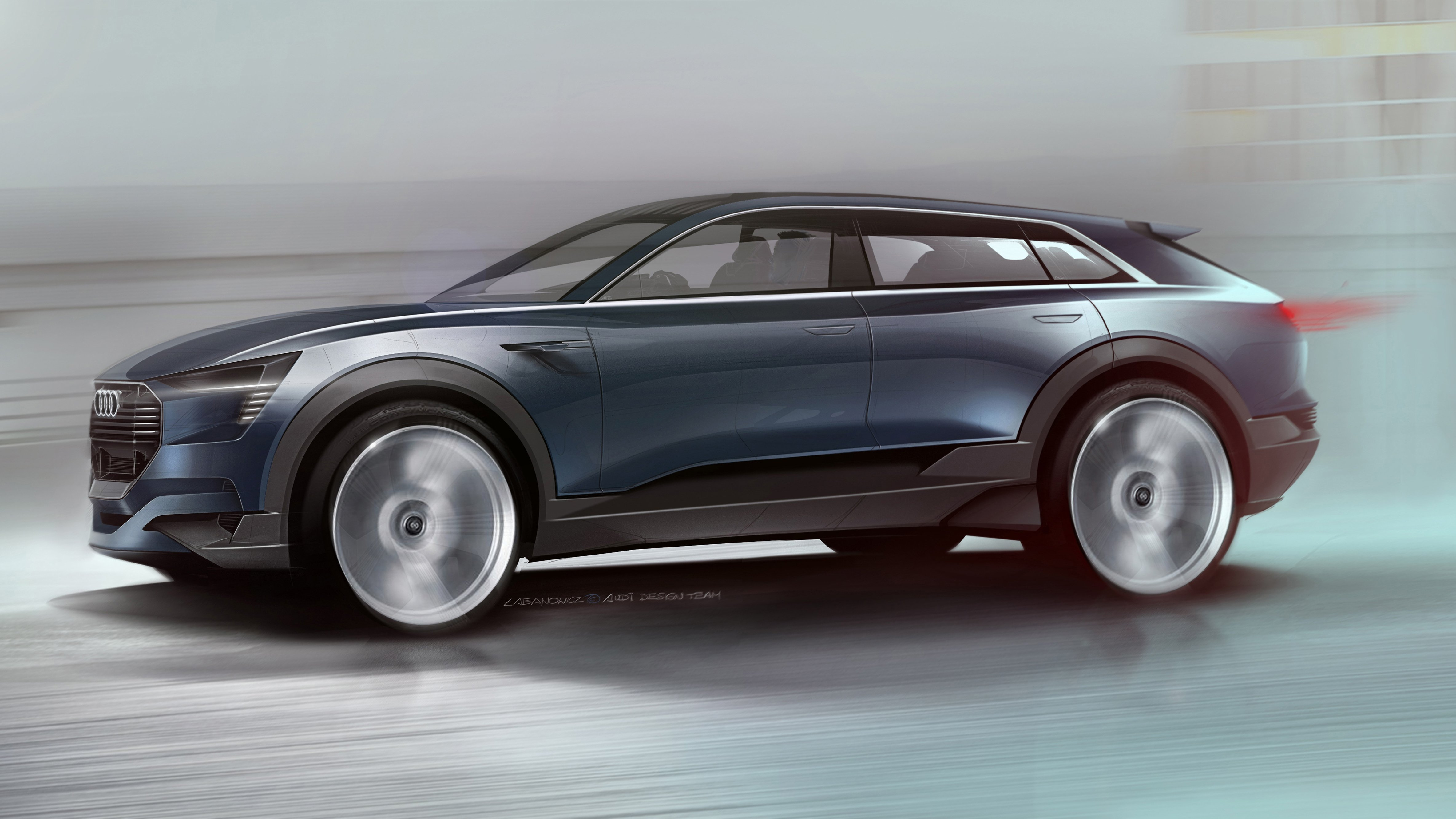 audi s new electric car to rival tesla model x cbs news