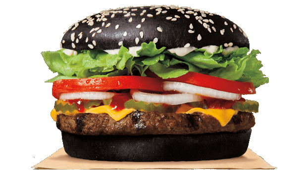 Halloween Hamburgers.Black Burger Green Poop Why Halloween Whopper Has Odd
