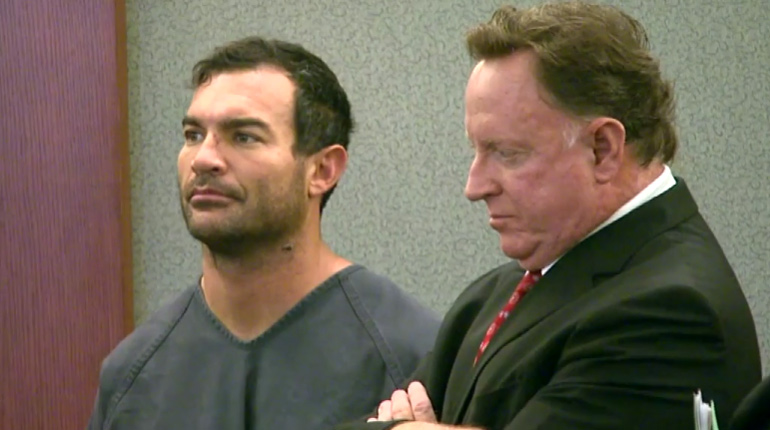 George Tiaffay with his attorney at his arraignment