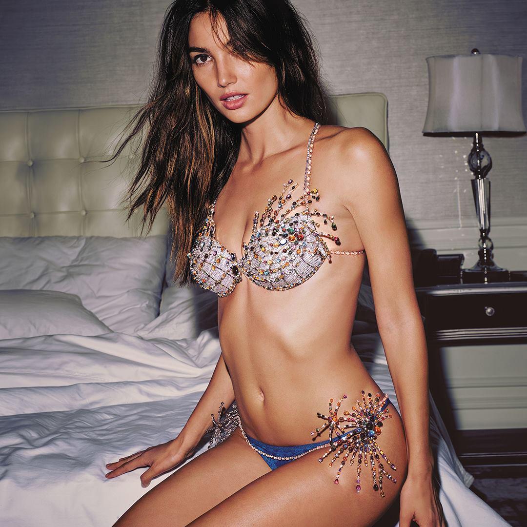 c6c6acc58a Lily Aldridge models  2 million Victoria s Secret Fantasy Bra - CBS News
