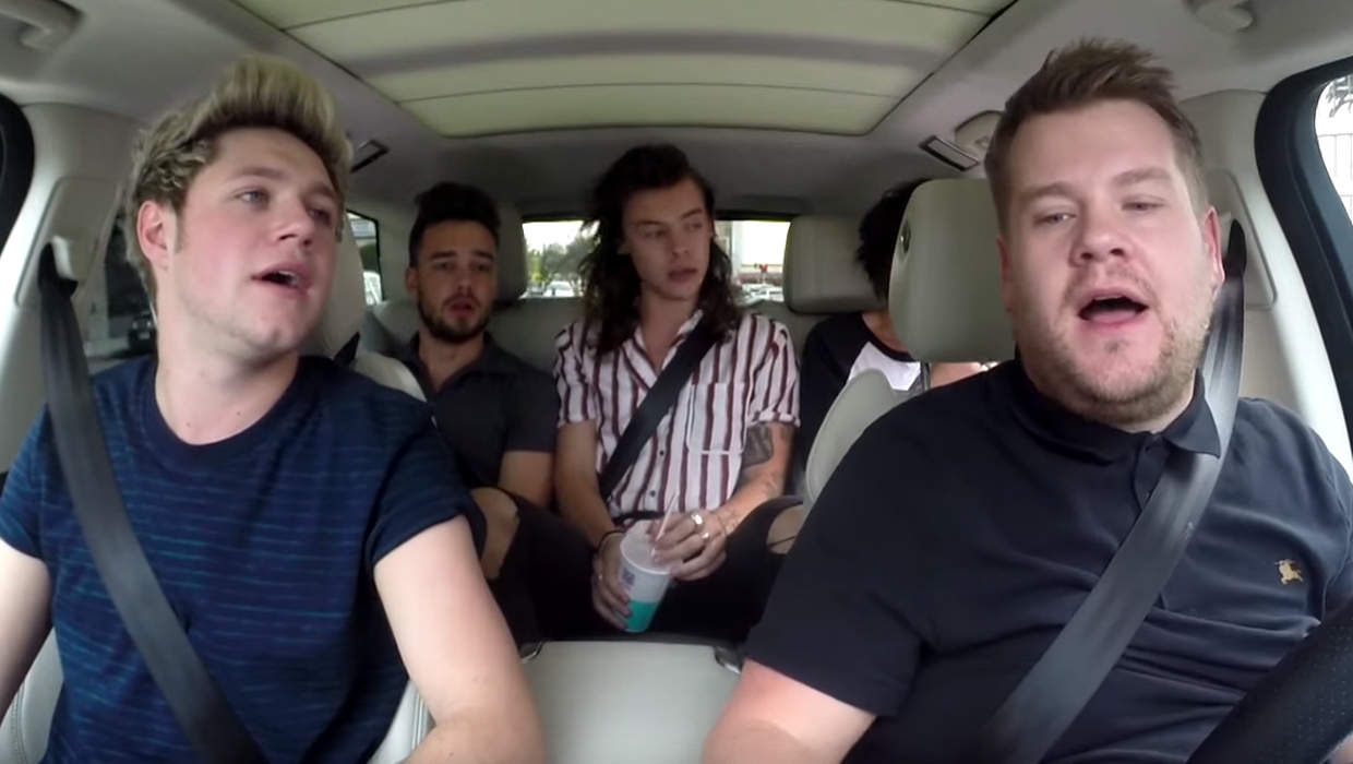 Watch One Direction Take On Carpool Karaoke With James Corden Cbs News