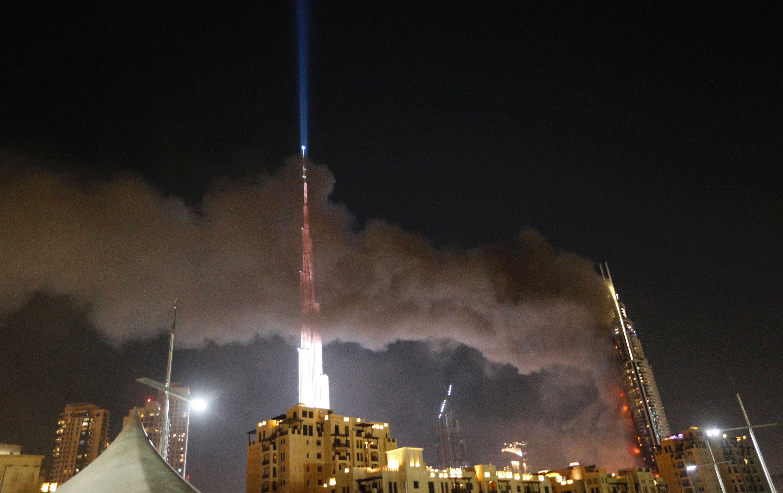 Dubai skyscraper fire dubai 39 s address hotel engulfed in for The newest hotel in dubai