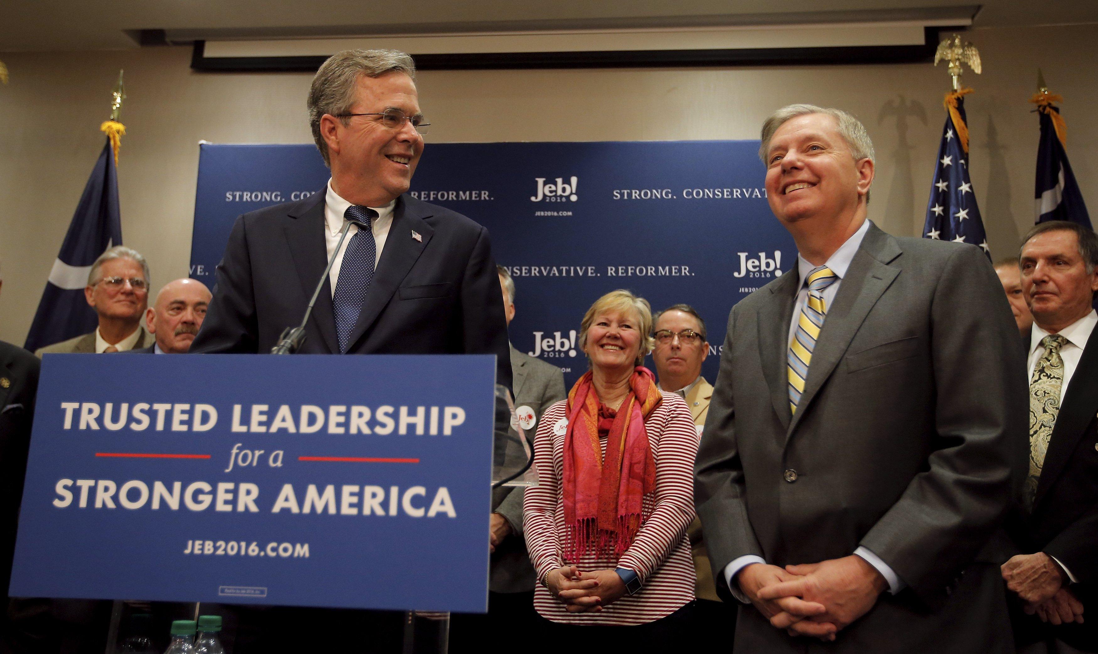 "Lindsey Graham says New Hampshire ""reset the race"" will help Jeb Bush - CBS  News"