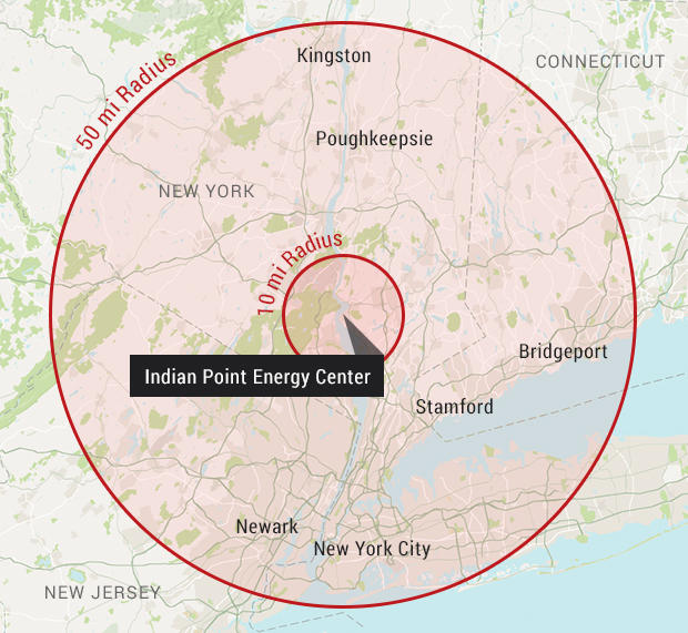 Indian Point Nuclear Plant Called Disaster Waiting To Happen - Us nuclear plant meltdown map
