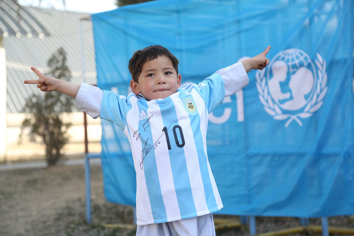 c60cb8218 Afghanistan Lionel Messi fan boy Murtaza Ahmadi and family move to ...