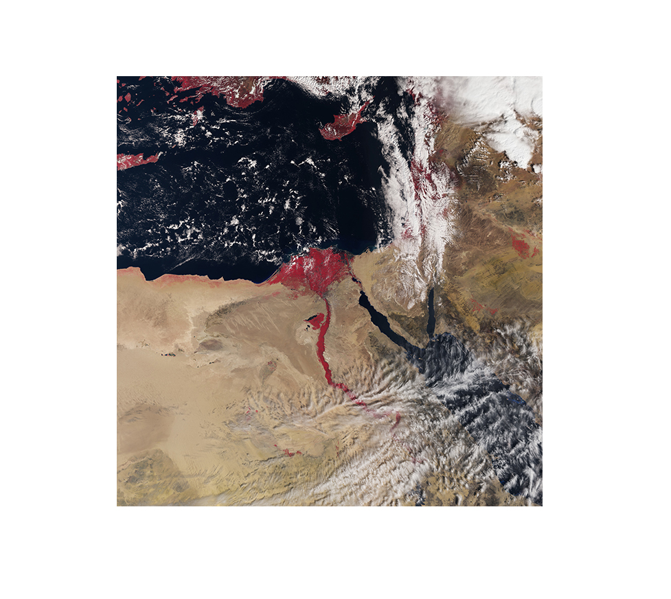 Blood Red Nile River Seen From E