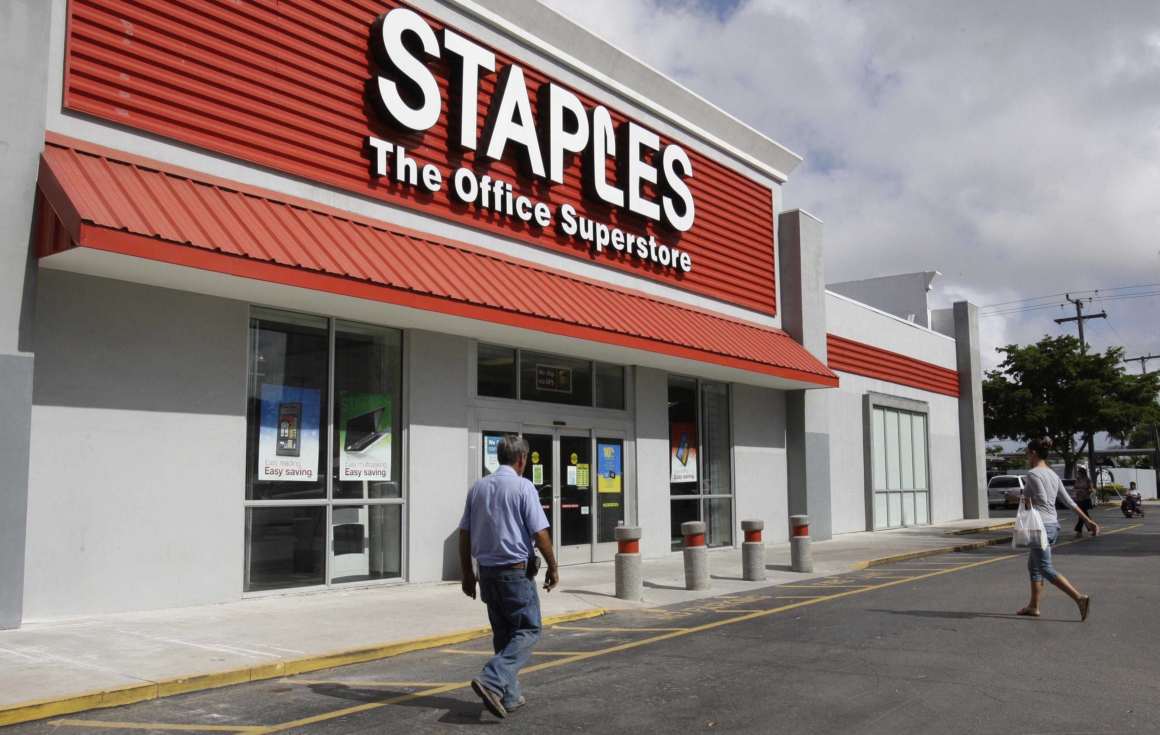 staples office depot scrap planned $6b merger cbs news