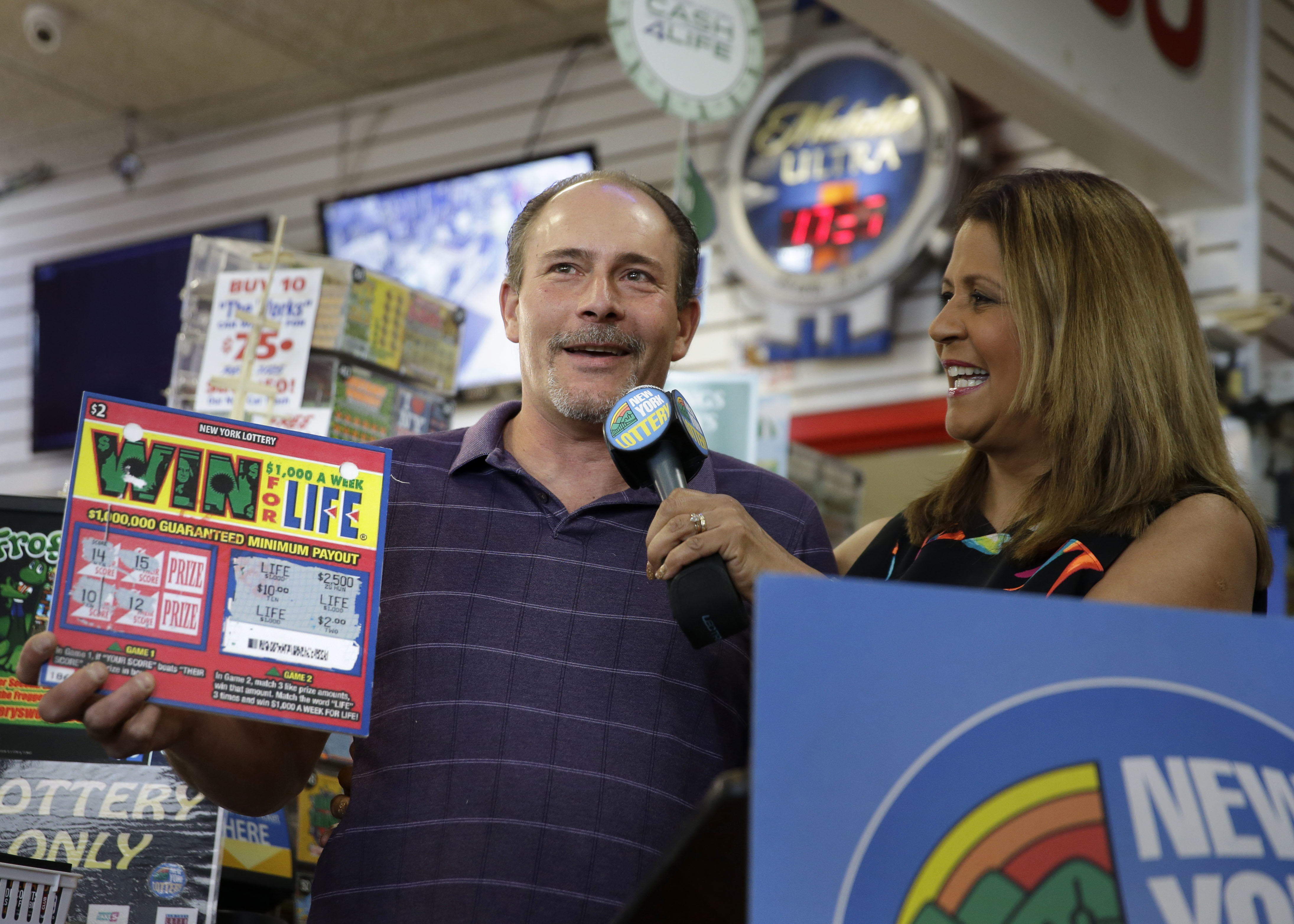 New York man wins $1M lottery twice at same gas station