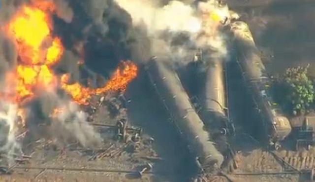 Railroad reveals cause of fiery oil train derailment - CBS News