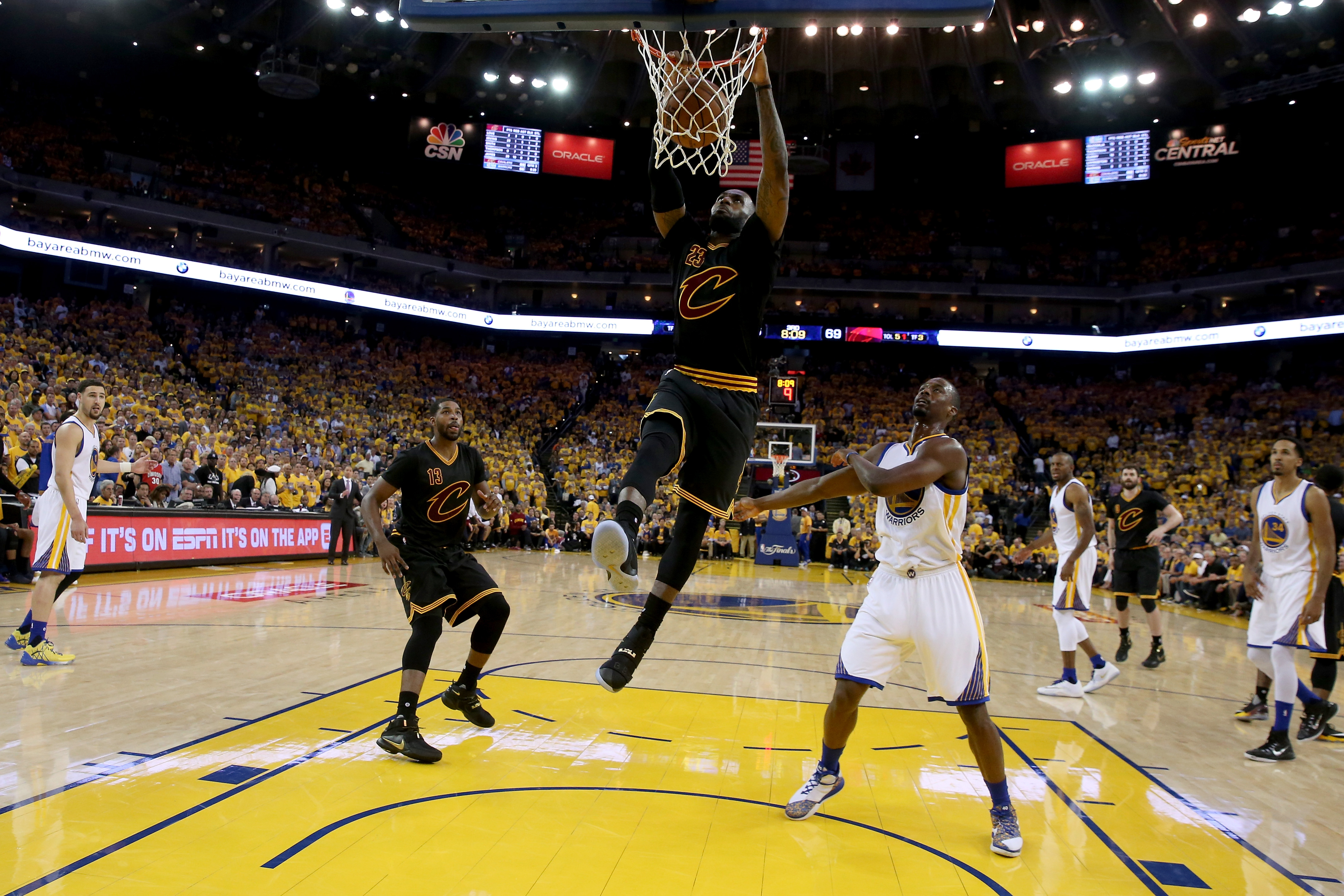 LeBron James, teammate Kyrie Irving set scoring record as Cleveland Cavaliers extend NBA Finals ...