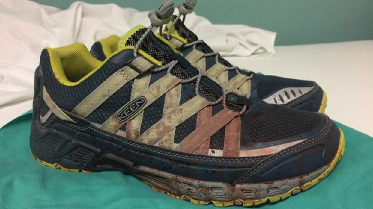 cf345ce04c83 Orlando doctor Joshua Corso shares heartbreaking photo of shoes on ...