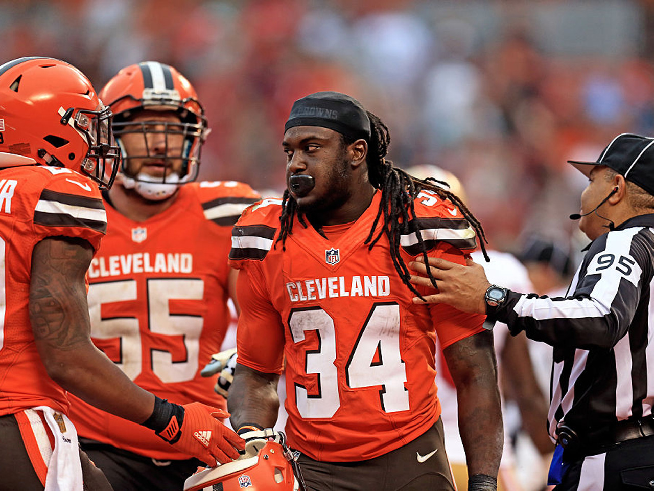 quality design 9831e 1a9a9 Cleveland Browns running back Isaiah Crowell apologizes for ...