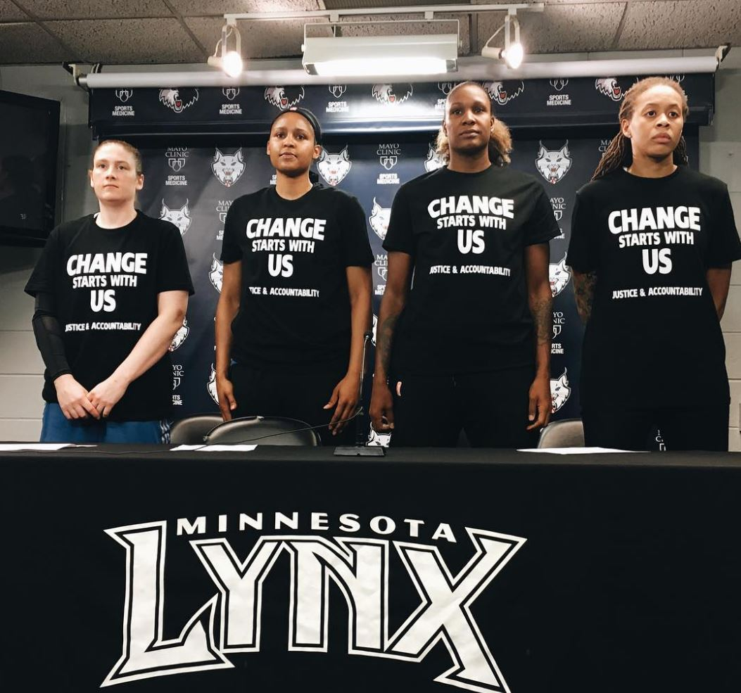 0b008f64345a Report  Cops walk off job with Minnesota Lynx for their support of ...