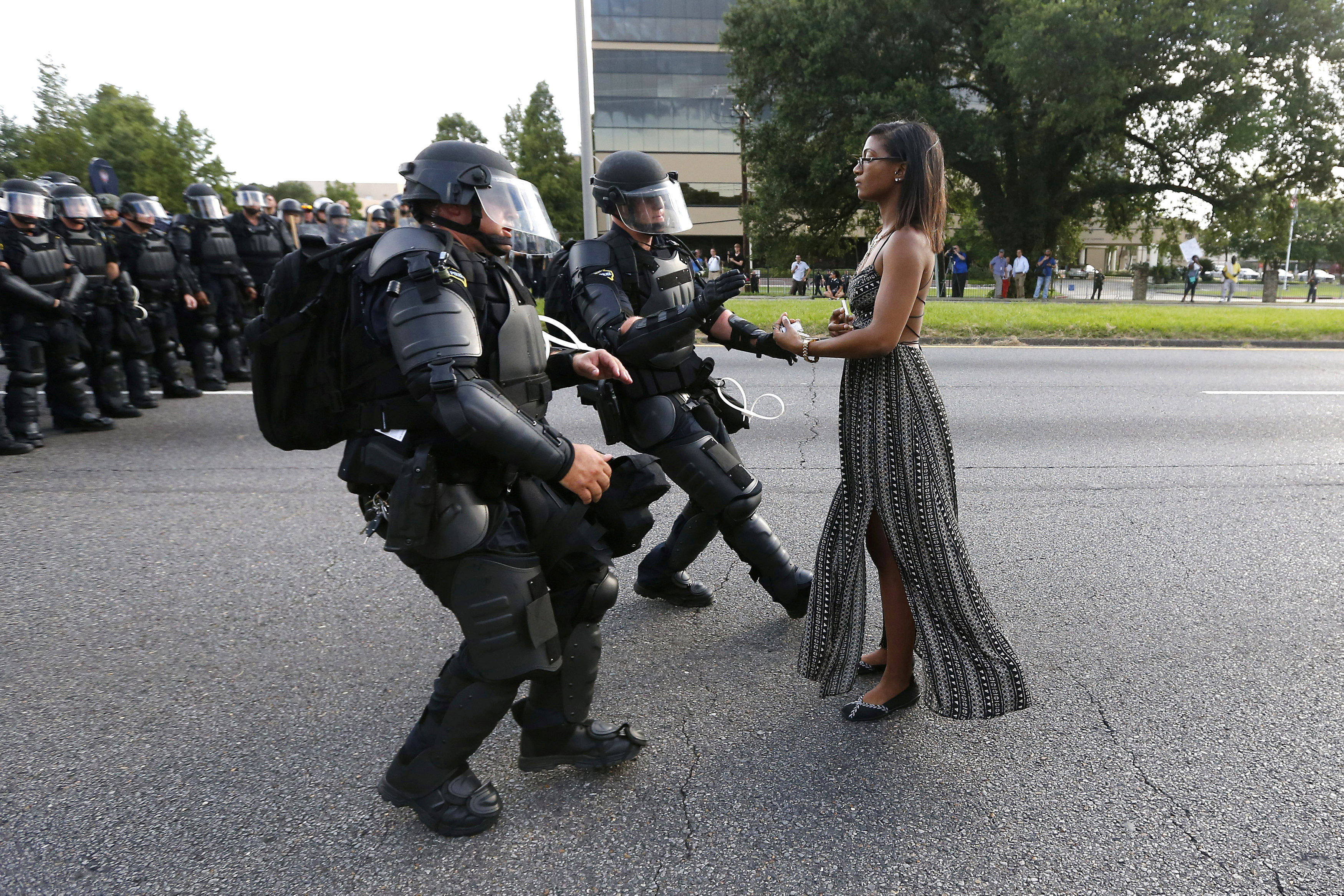 Ieshia Evans, woman in iconic Baton Rouge police protest photo