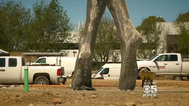 55-foot statue of nude woman spurs debate on Northern