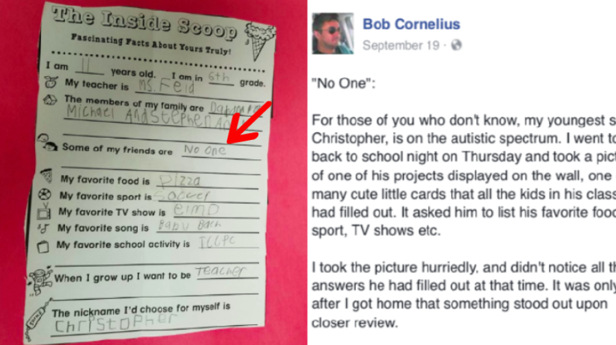 Its Heartbreaking Boston Parents Ask >> N J Dad Heartbroken To Find This Answer On Autistic Son S Class