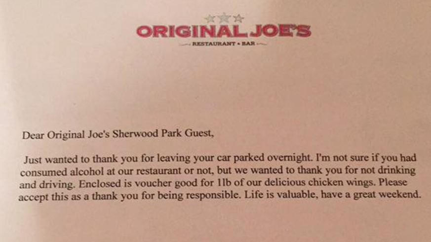 Woman Surprised By Note On Windshield After Leaving Car In Bar Parking Lot