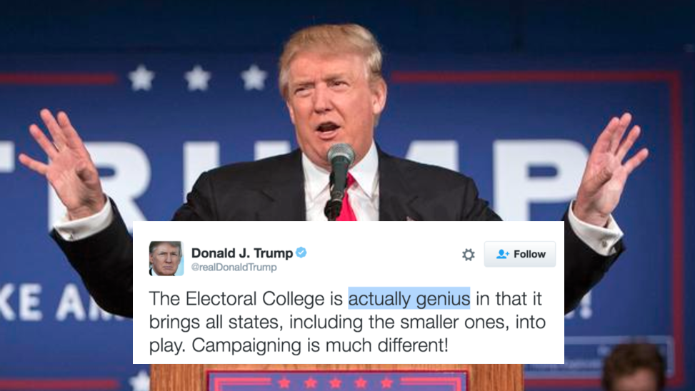 Donald Trump Will Be Disaster For >> Donald Trump Once Called Electoral College A Disaster Now Says