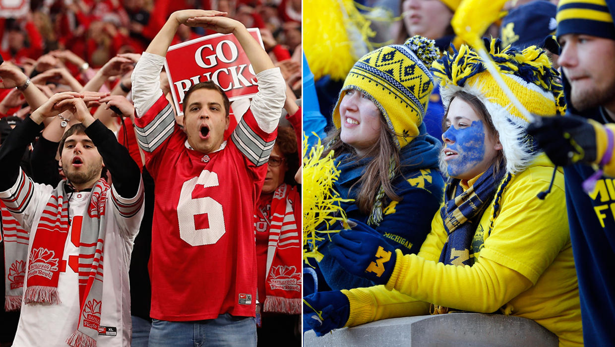 vs. football and State love  tests Ohio game Michigan