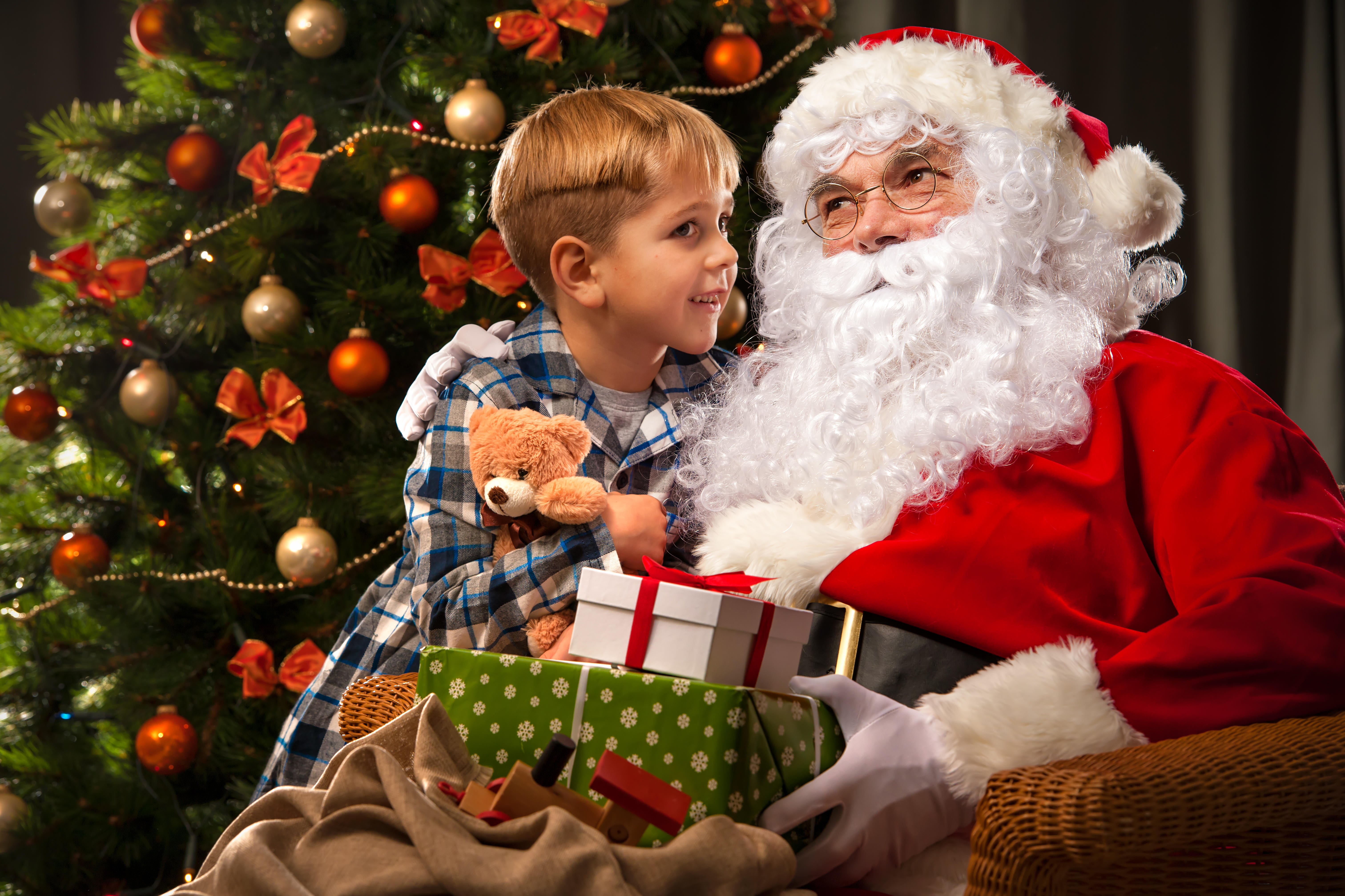when - Santa Claus And Kids