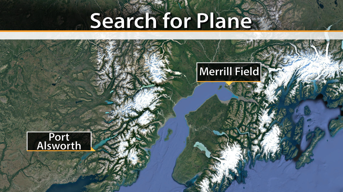 Port Alsworth Alaska Map.Small Plane Crash Kills 1 Separate Small Plane Goes Missing In