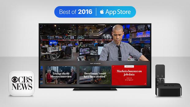 CBS News Apple TV app named to