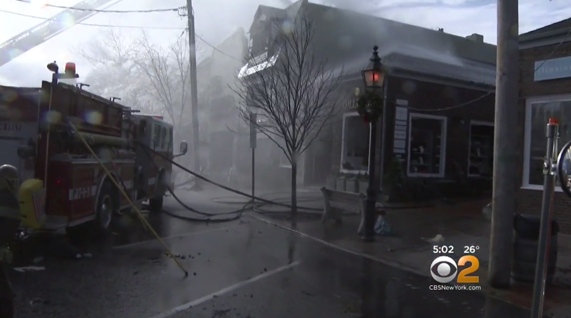 Sag Harbor Fire Cinema Historic Main Street Gutted By