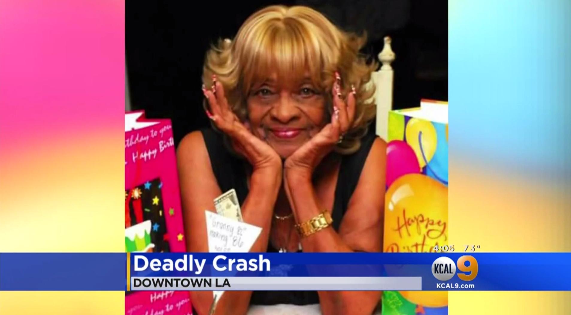 Barbara Hazely killed: Woman, 89, dies when car flies off L A