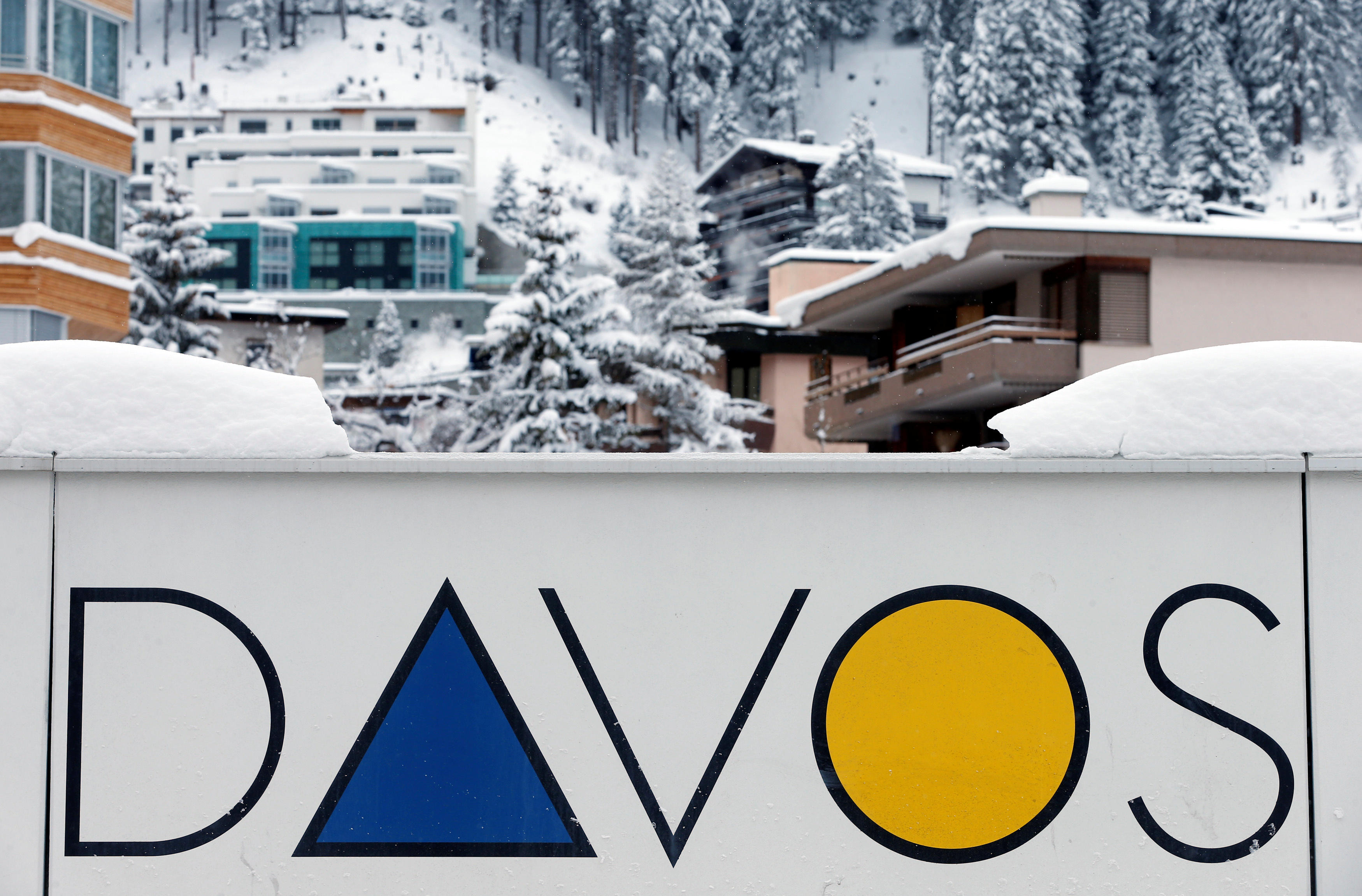 Image result for davos, photos, sign, snow