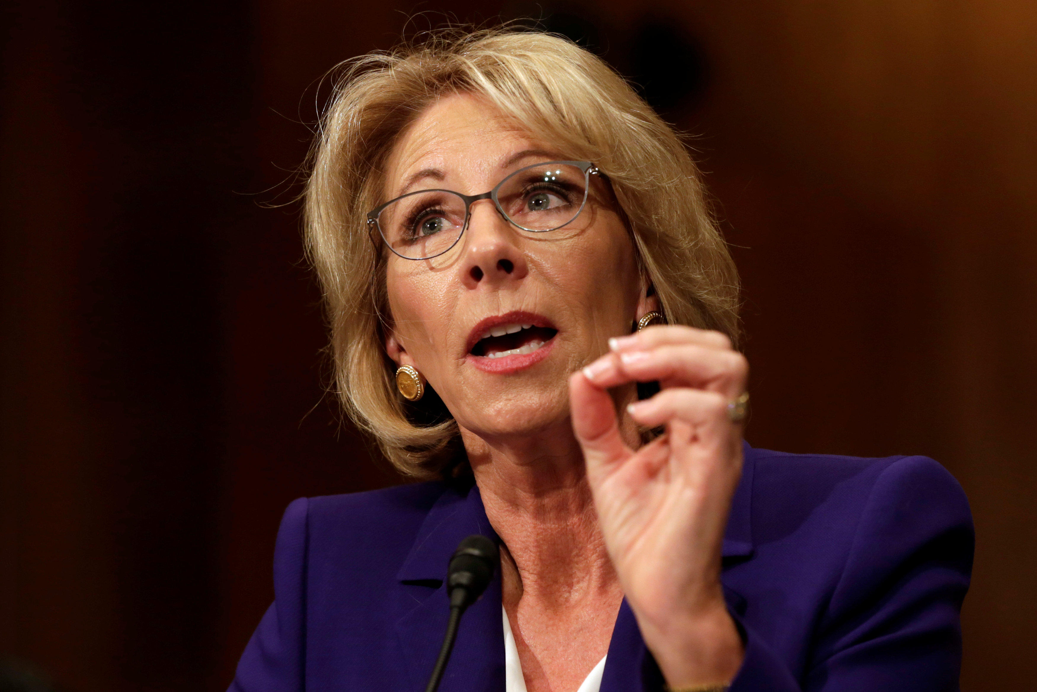 Betsy Devos Trumps Education Pick Plays >> Education Pick Betsy Devos Cites Grizzlies In Wyoming When Asked