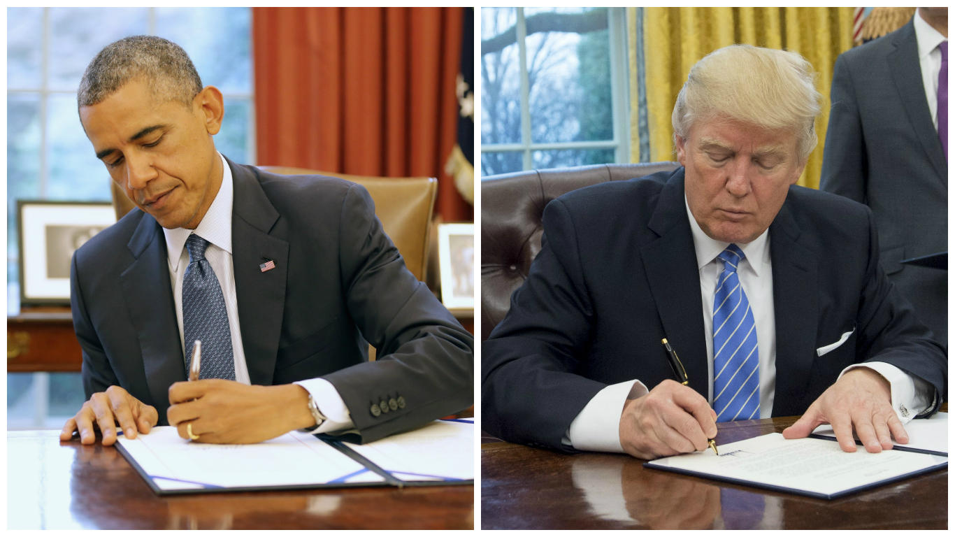 Oval Office Gold Curtains How Trump Has Changed The Oval Office So Far Cbs News