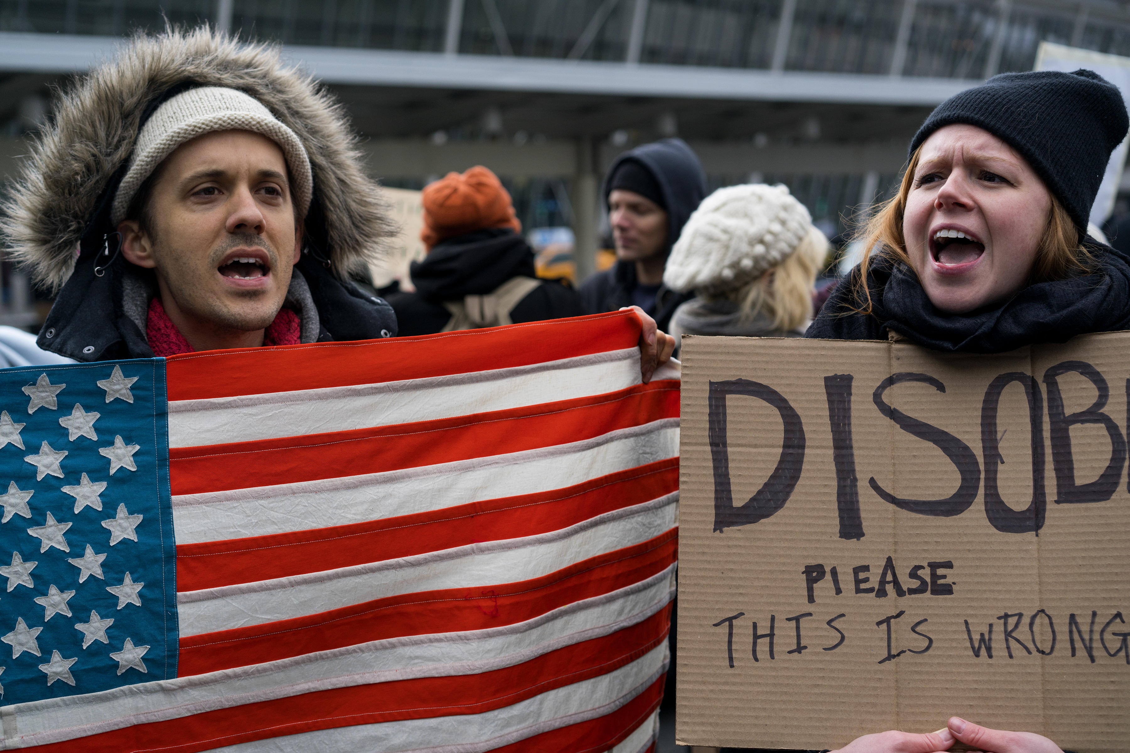 Its Not Just Demonstrators Saying >> Protests Erupt At Airports Nationwide Over Immigration Action Cbs News