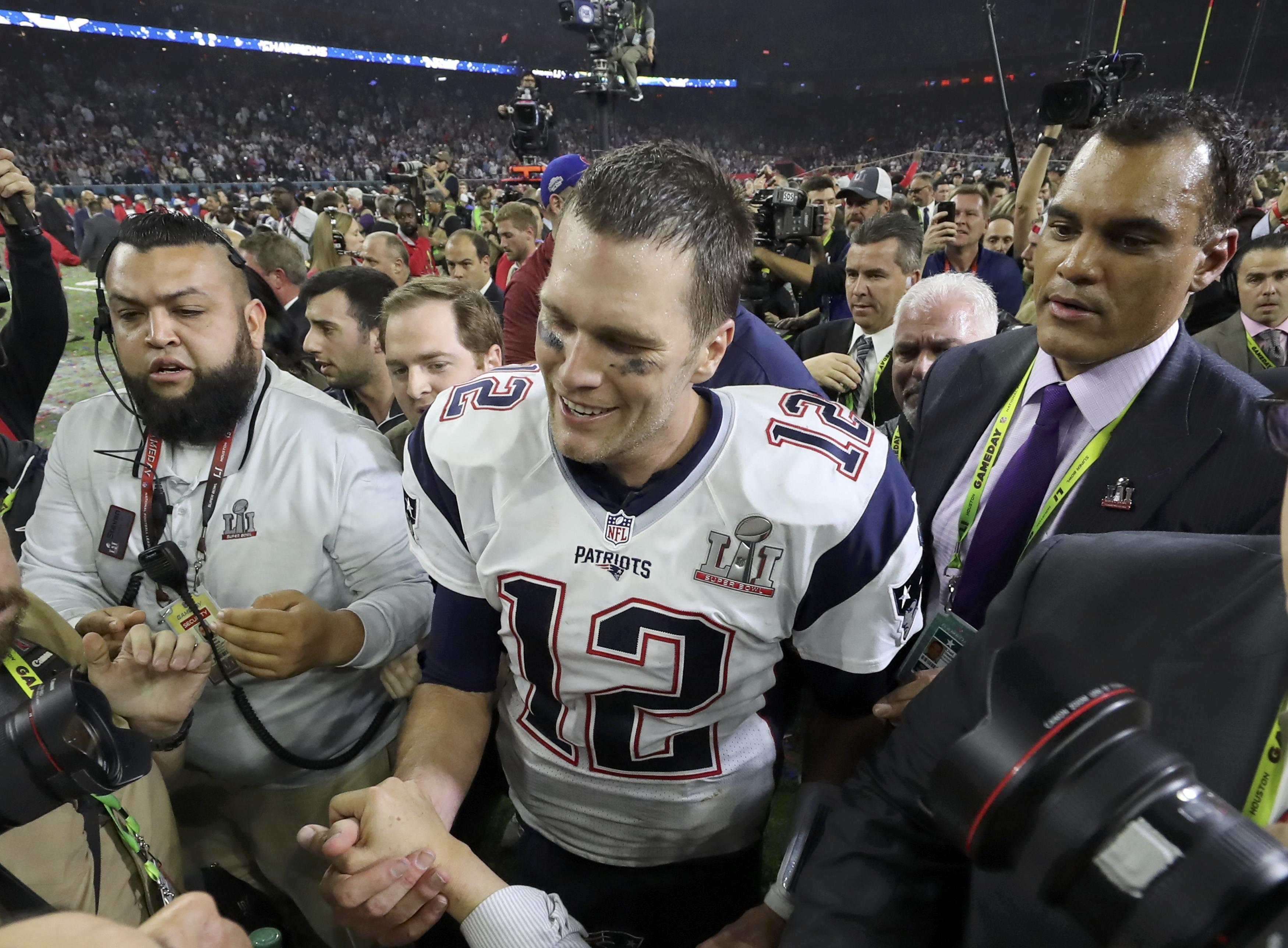 d61545bfe517db Tom Brady says his Super Bowl LI jersey missing, likely stolen - CBS ...