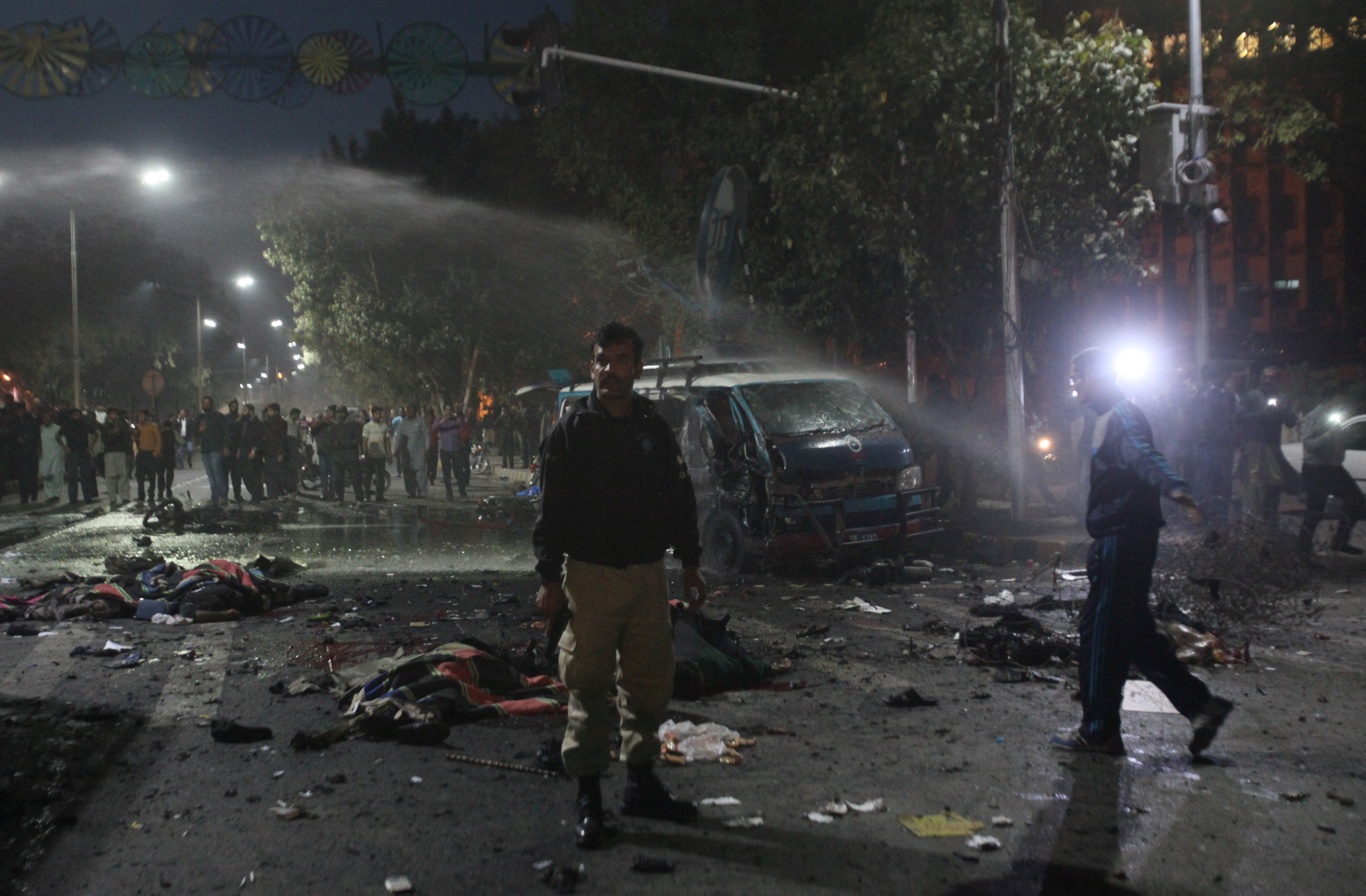Pakistan Protest In Lahore Hit By Suicide Bomber From