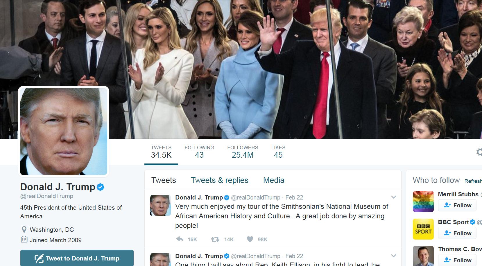 Trump S Twitter Feed Quiets Down Cbs News