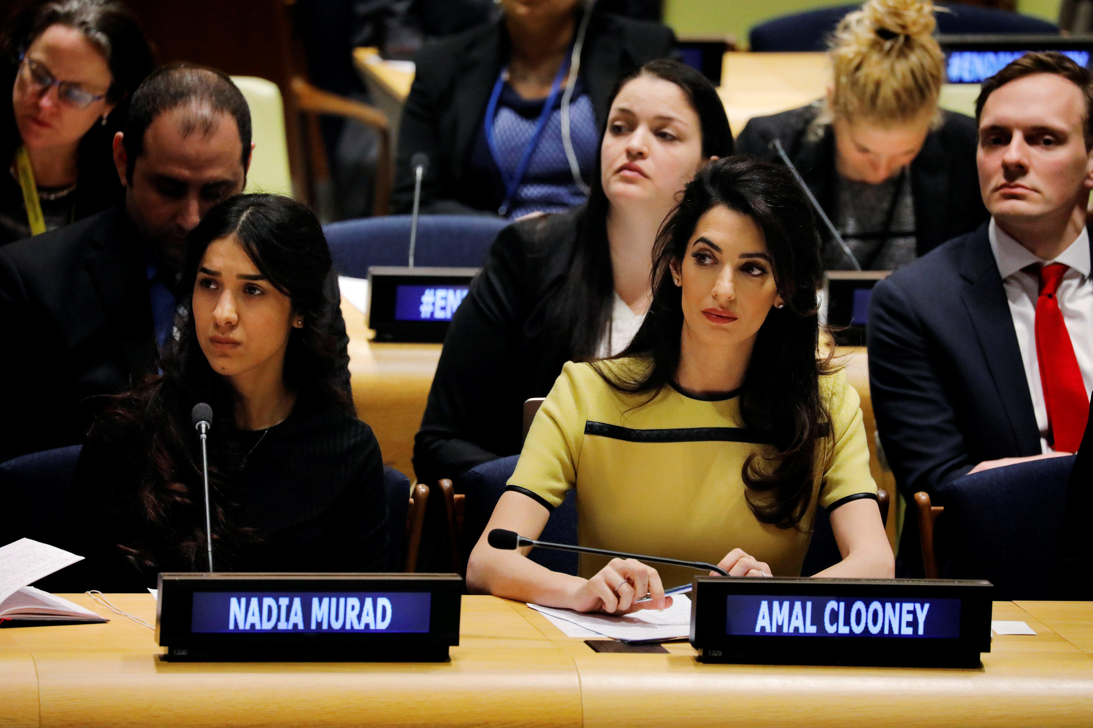 Amal Clooney to Iraq, U N : Don't let ISIS