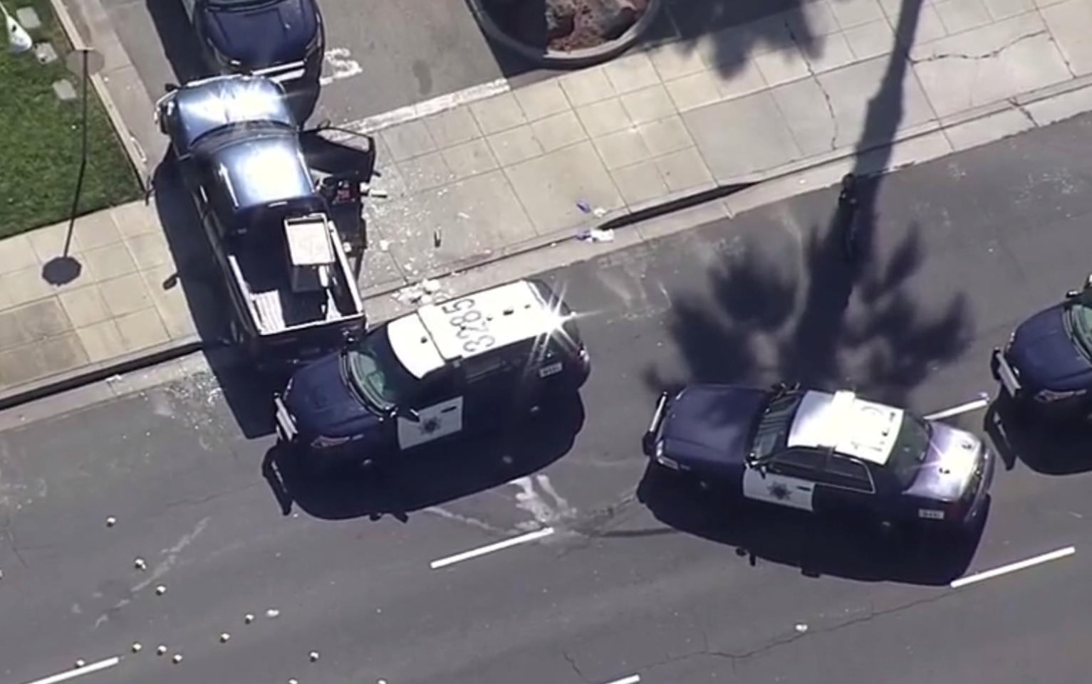 San Jose police shoot naked man after vehicle pursuit, authorities