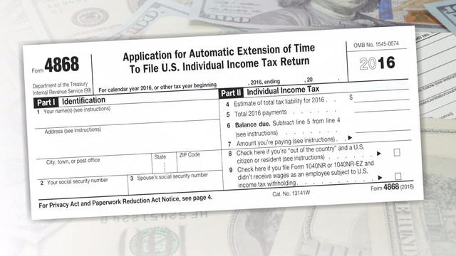 Your Tax Return IsnT Due April   Cbs News