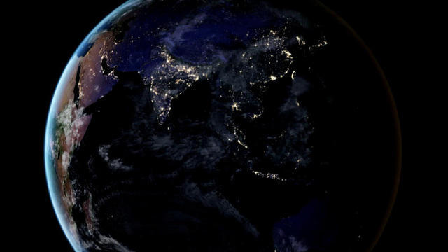 nasa releases new global map of earth seen at night cbs news