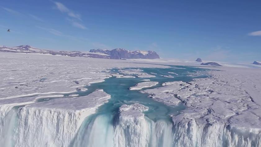 Water streaming across Antarctica surprises, worries scientists