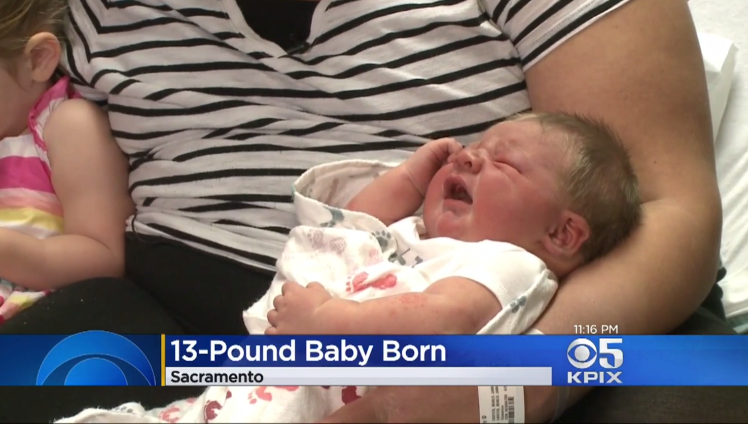Mother gives birth to one of largest babies ever born in Northern Calif.
