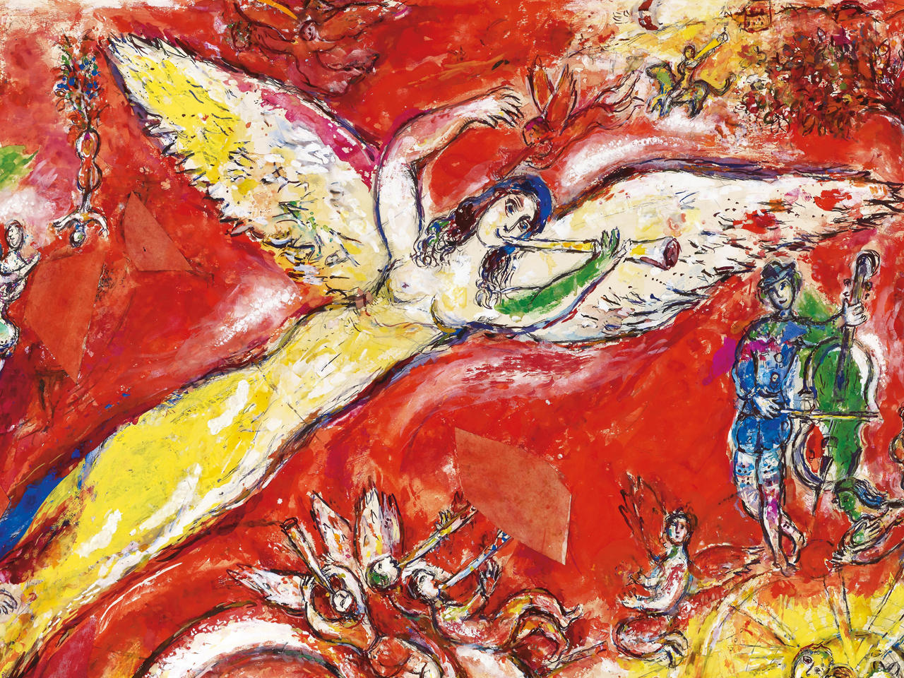 Daphnis and chloe the art of marc chagall pictures for The art of painting