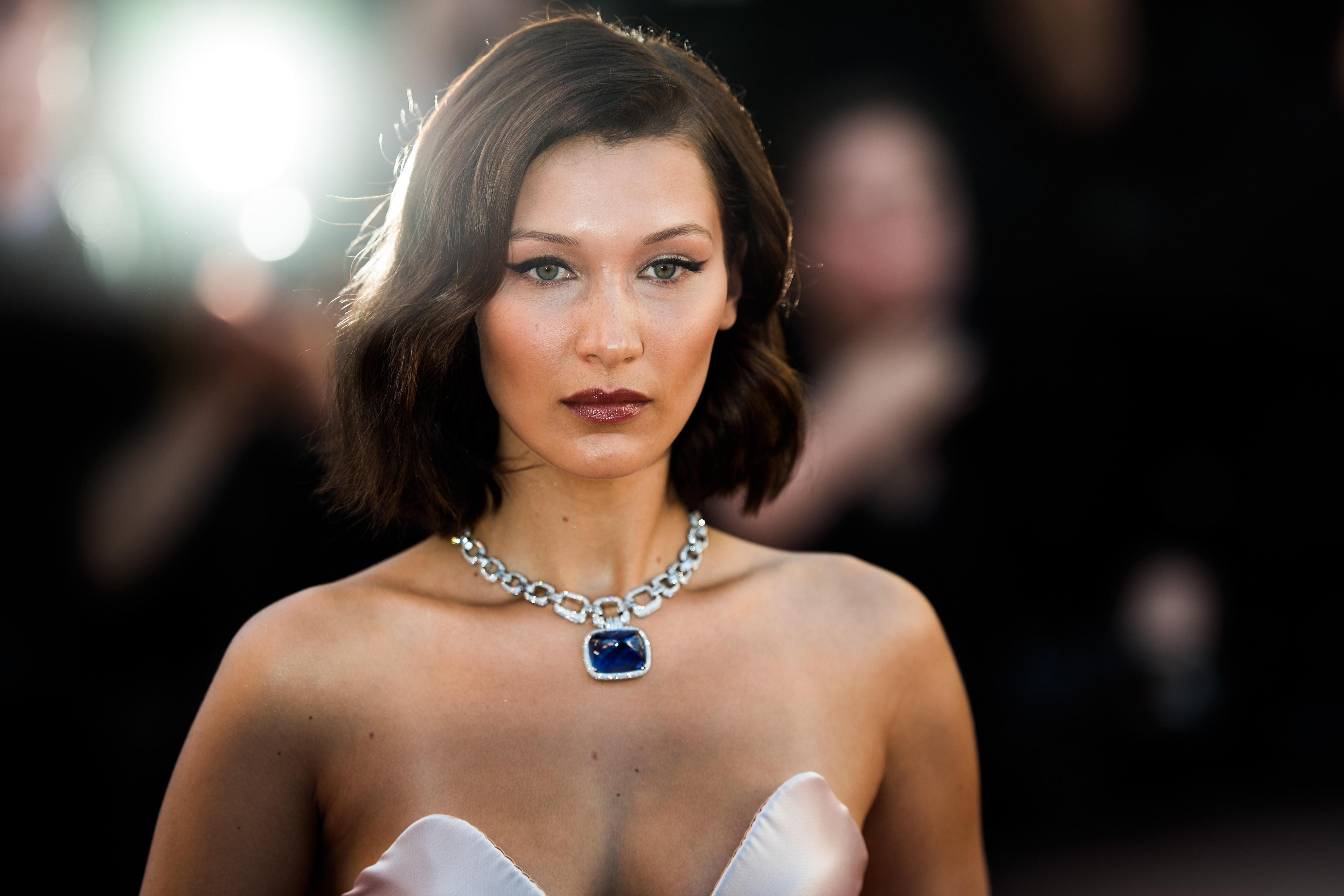 8550972221320 Bella Hadid suffers wardrobe malfunction at Cannes Film Festival ...