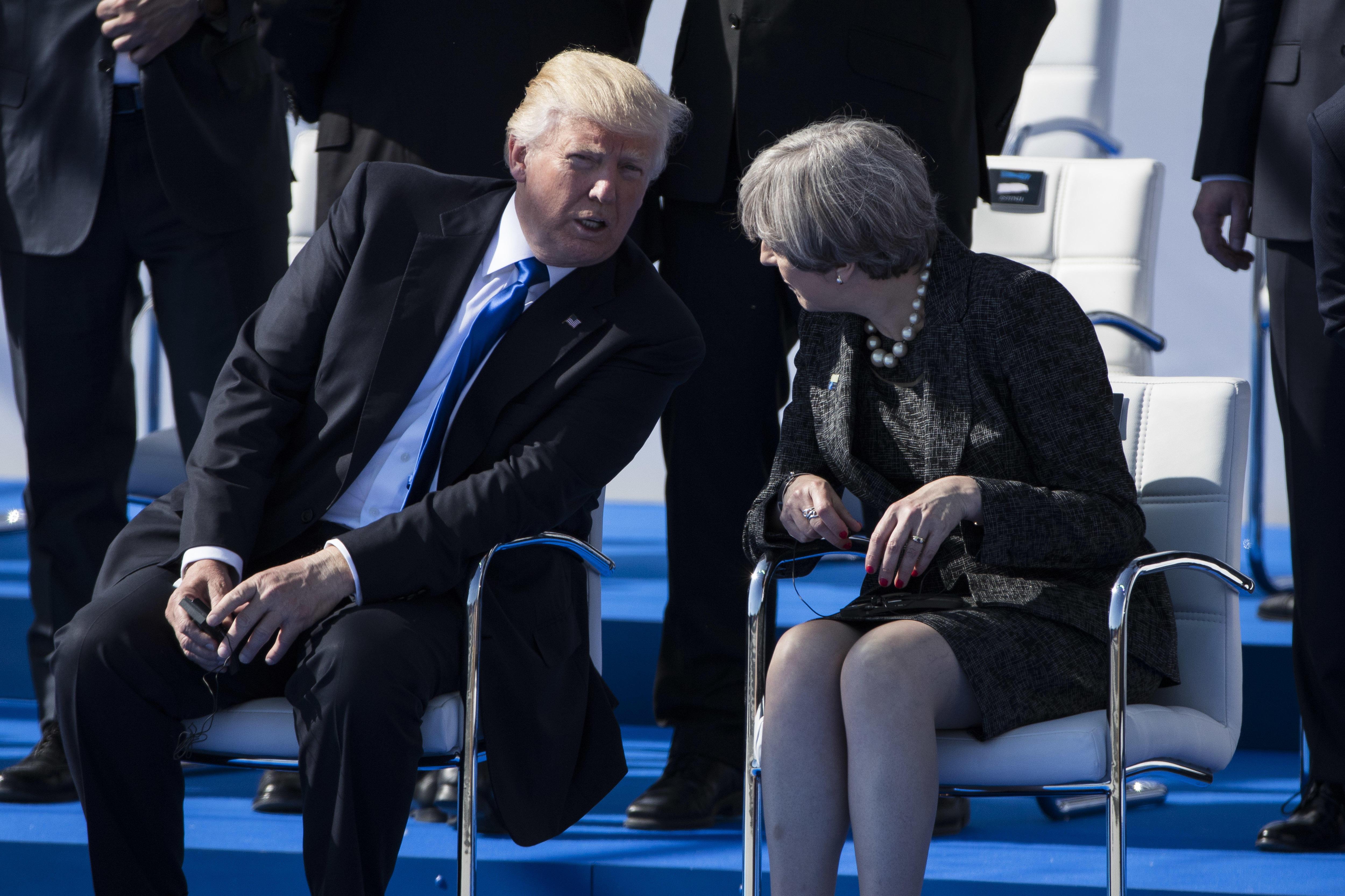"""U.S. envoy: Trump's tweet at U.K. leader """"probably misinterpreted"""""""