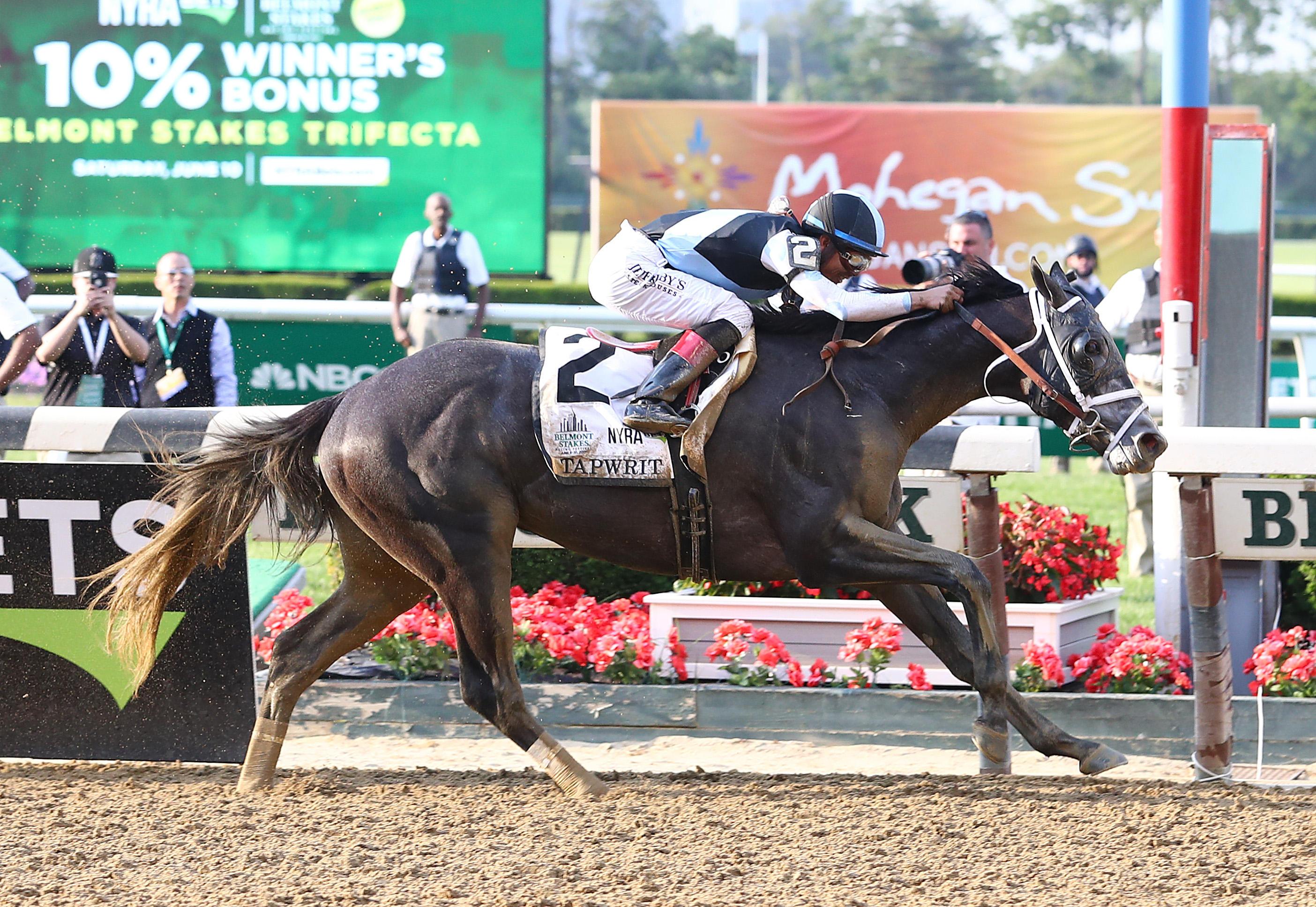 Tapwrit Wins 2017 Belmont Stakes Cbs News