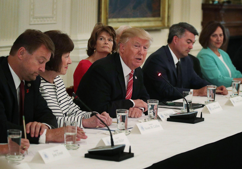 Trump tells GOP senators if they don't pass health care, he won't like it,