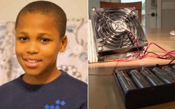 7034d3a45ea This 11-year-old Texas boy invented a device to prevent hot car deaths
