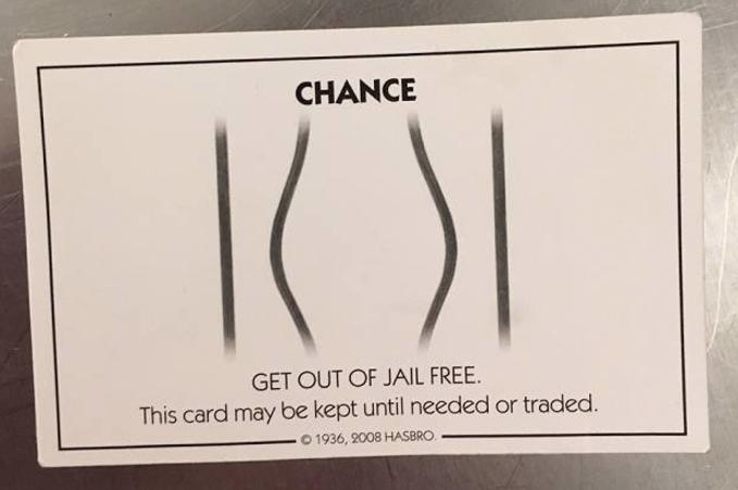 Facing Arrest Man Hands Deputy Get Out Of Jail Free Card Cbs News