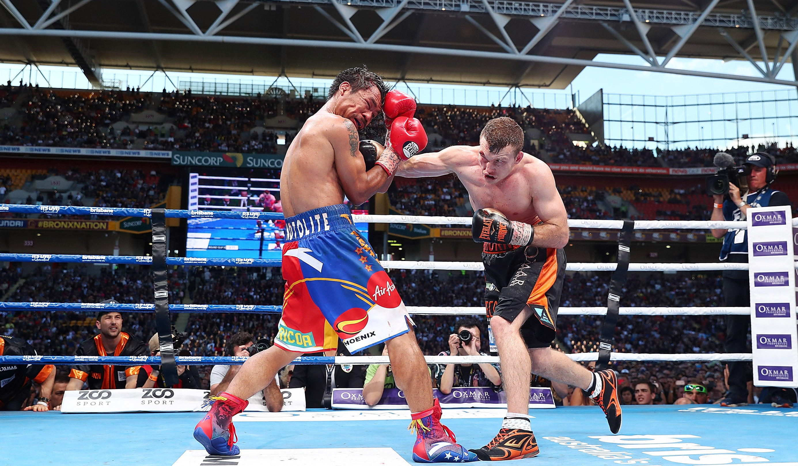 jeff horn defeats manny pacquiao in wbo title fight cbs news