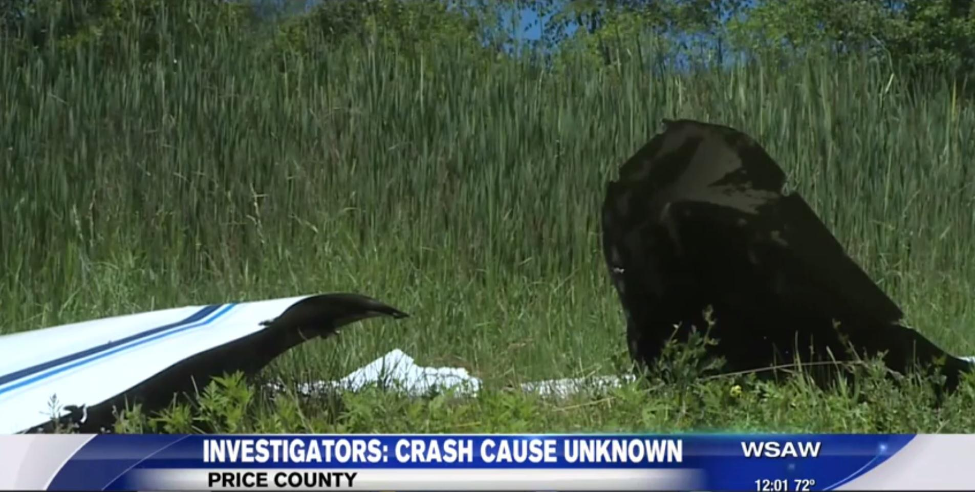 Small plane that went down in Wisconsin fell apart in air